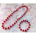 """Σετ """"Red pearls"""""""