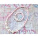 """Σετ """"Pink & white pearls"""""""