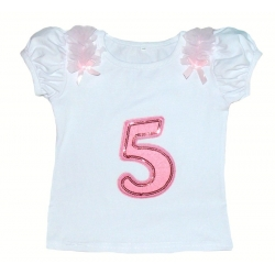 Baby girl 5th Birthday cotton Top