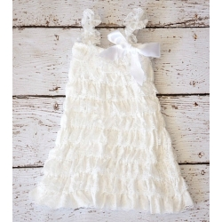 Baby lace dress Ivory white