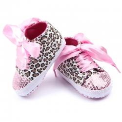 Baby girl shoes Pink bling leopard