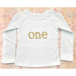 Baby girl birthday top white