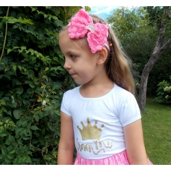 Baby girl top Crown white