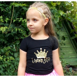 Baby girl top Crown black
