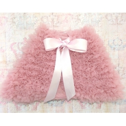 Baby girl chiffon cape Dusty pink