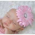 """Κορδελα """"Pink flower"""" with white"""
