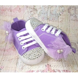 Baby girl shoes lavender with crystals