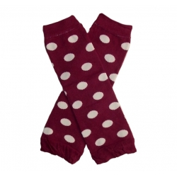 Baby girl leg warmers Burgundy