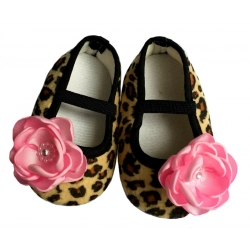 Βaby girl shoes Leopard with flower