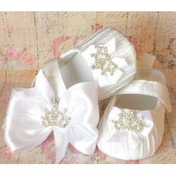 Baby girl shoes Princess style white