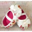 Παπουτσακια ''Flowers'' ivory