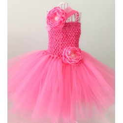 Tutu dress Rose Pink with headband