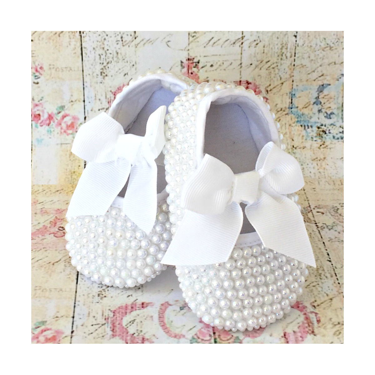 8ac1d782d3b6c baby girl christening shoes with white pearls uk
