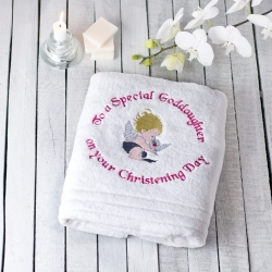 Christening Towel To A Special Goddaughter