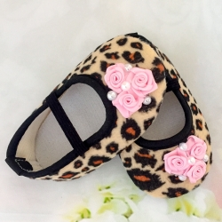 Βaby girl shoes Leopard with roses