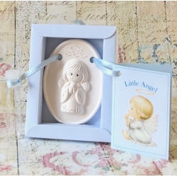 Christening guardian angel gift blue