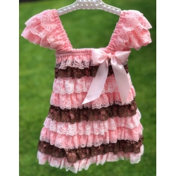 Baby dress with lace Multicolor