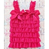 Baby Girl Lace Top Hot Fuchsia