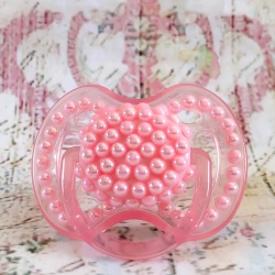 Pacifier avent with pink pearls