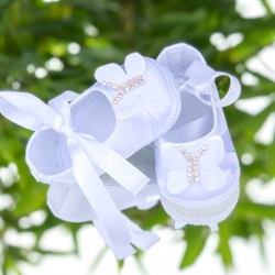 Baby girl christening shoes Butterfly