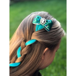 Hair clip with extensions ''Peacock''