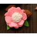 Kλιπ κοκαλακι-pink felt flower