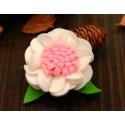 Kλιπ κοκαλακι-White felt flower