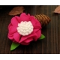 Kλιπ κοκαλακι-Fuchsia felt flower