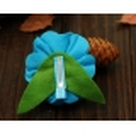 Kλιπ κοκαλακι-Aquamarine felt flower