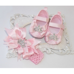 Baby shoes with headband Princess and diamante