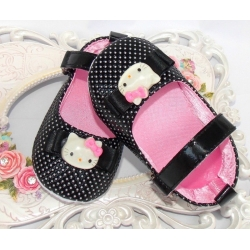 baby girl shoes Hello kitty black