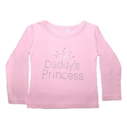 Cotton Long-Sleeved Daddys Princess Pink Top