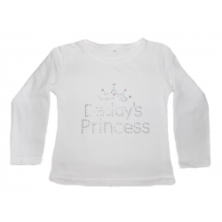 Cotton Long-Sleeved Daddys Princess White Top