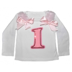 Long-Sleeved First Birthday Top