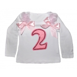 Long Sleeved Baby Girl 2nd Birthday Top