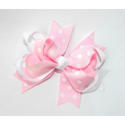Hair clip-pink boutique bow
