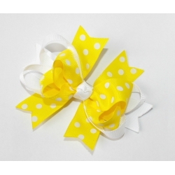 Hair clip-yellow boutique bow