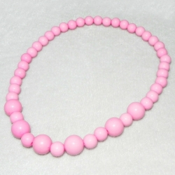 Baby girl necklace Pink