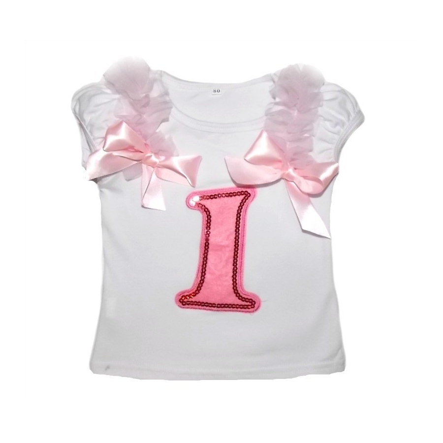 Baby Girl 1st Birthday Cotton Top