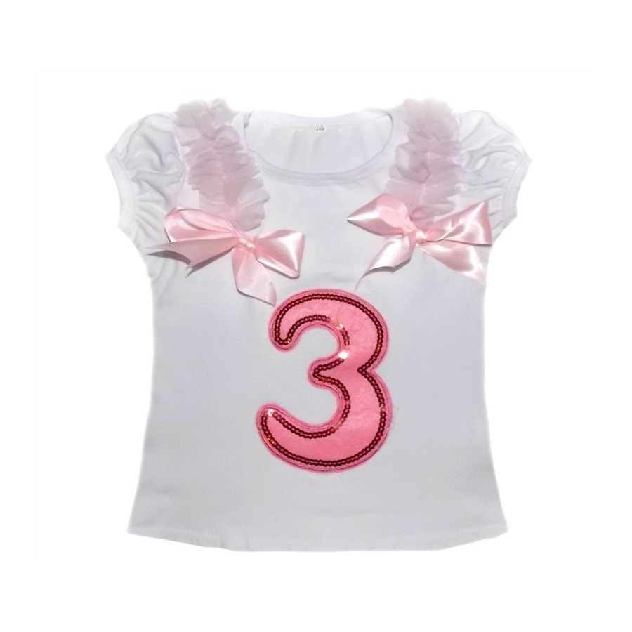 Baby Girl 3st Birthday Cotton Top