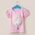 """Μπλουζάκι """"3D"""" pink with white"""