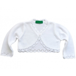 Girl white bolero cardigan