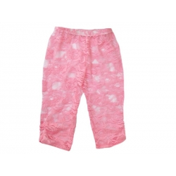 Baby grl lace leggings Coral pink