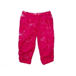 Baby girl lace leggings Fuchsia