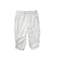 Baby girl lace leggings Ivory white