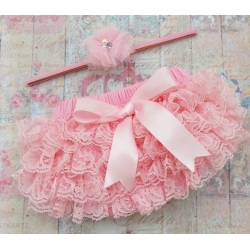 Lace tutu frilly pants Pink